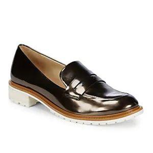 Schutz Black Patent Loafers